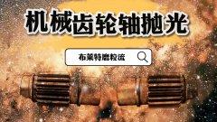 磨粒流为机械齿轮轴抛光:表面烧黑、氧化皮很厚,边缘有披锋毛刺